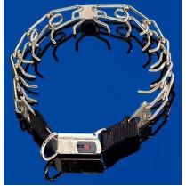 Строгий ошейник с замком Click-Lock, среднее звено, нержавеющая сталь