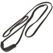 Поводок кожаный ринговый c удавкой 220 см