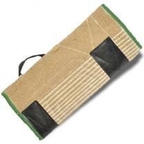 Покрытие на защитный рукав, джут с пластиковыми накладками