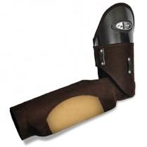 Кожаный защитный рукав с комбинированным грызаком