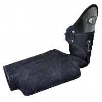 Кожаный защитный рукав с твердым грызаком